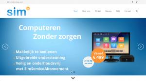 Nieuwe website simpc.nl