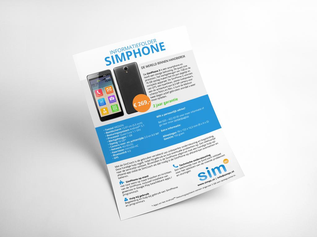 SimPhone informatiefolder