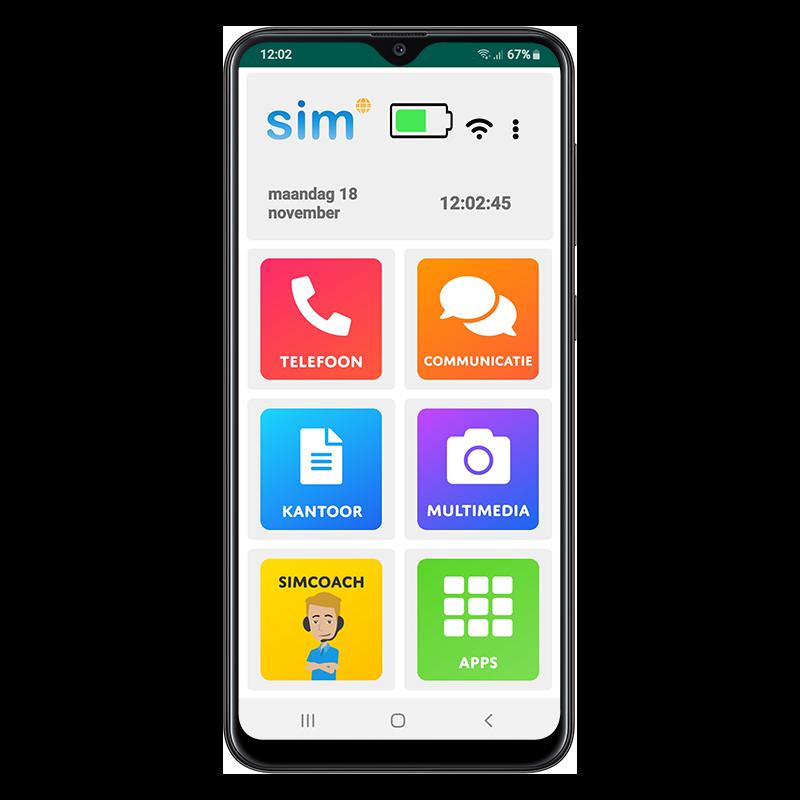 Ouderen smartphone Simphone 4