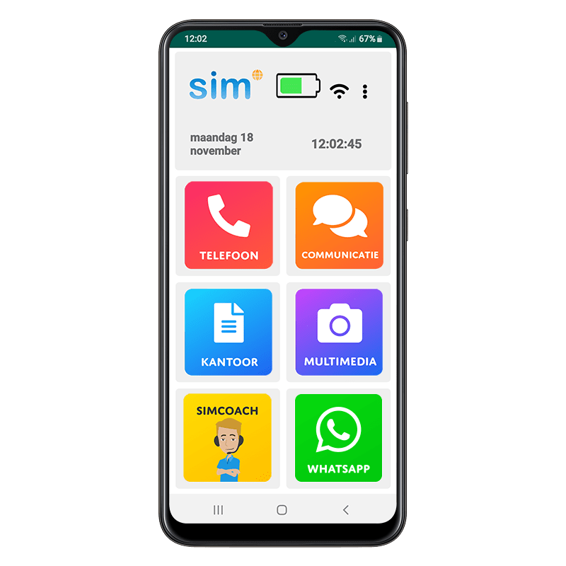 SimPhone 4 met whatsapp